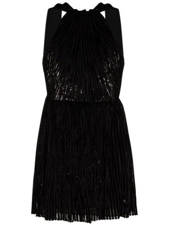 Saint Laurent Beaded Halterneck Mini Dress - Farfetch