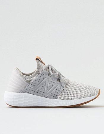 New Balance Fresh Foam Cruz V2 Knit Sneaker, White | American Eagle Outfitters