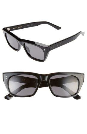 CELINE 53mm Polarized Rectangle Sunglasses | Nordstrom