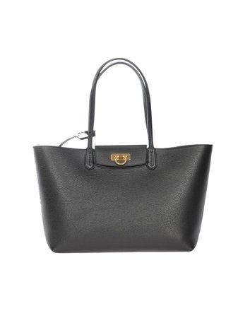 Gancini Small Calf Leather Tote Bag