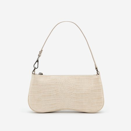Ivory Baguette Bag - Croc Embossed - Friday By JW PEI – Friday by JW PEI