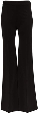 high waist flared trousers