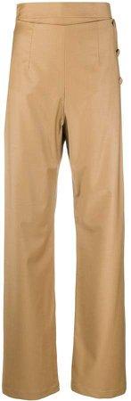 High-Waist Straight-Leg Trousers