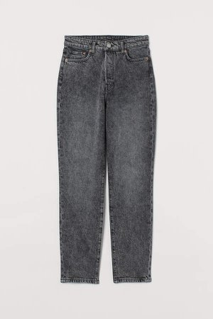 Mom High Ankle Jeans - Gray