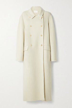 Dilona Oversized Double-breasted Cashmere, Wool And Silk-blend Coat - Beige
