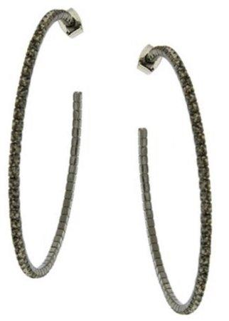 Black Gold Hoop Earring