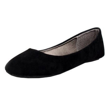 West Blvd Womens BALLET Flats Slip On Shoes Ballerina Slippers, Black Suede, US 9 $9.99* · In stock