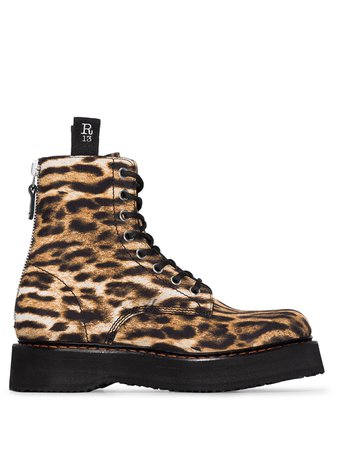 R13 leopard-print Leather Boots - Farfetch