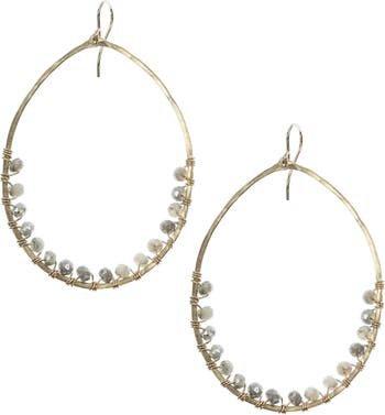 Nashelle Lily Oval Hoop Earrings | Nordstrom