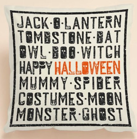 Halloween cushion