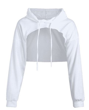 Open Bust Cropped Hoodie