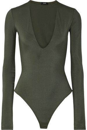 Alix | Irving stretch-jersey thong bodysuit | NET-A-PORTER.COM