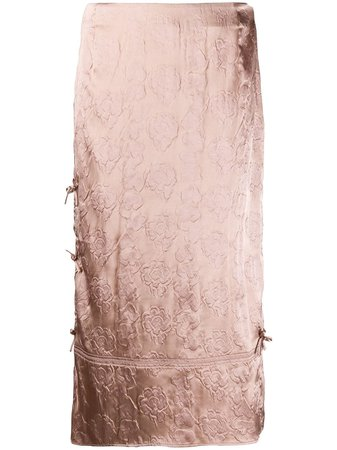 Acne Studios floral-jacquard Midi Skirt - Farfetch