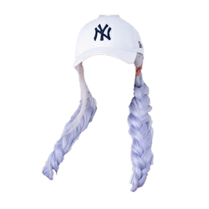 hat png twin braids blonde white silver