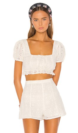 Lovers + Friends Leah Top in White   REVOLVE