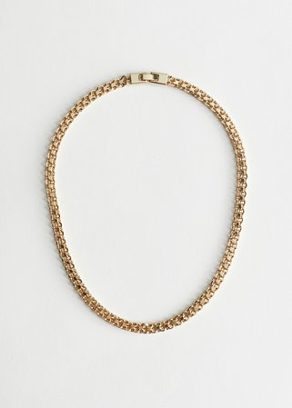 Fitted Chunky Chain Necklace - Gold - Necklaces - & Other Stories