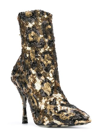 Dolce & Gabbana sequin ankle boots $411 - Shop SS19 Online - Fast Delivery, Price