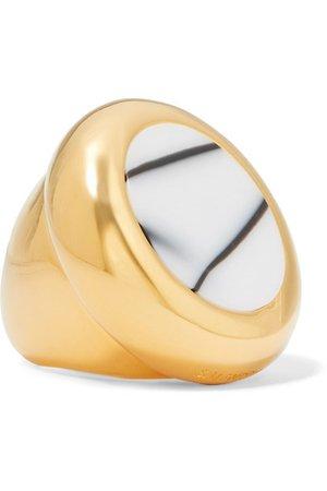 Balenciaga | Gold-tone and resin ring | NET-A-PORTER.COM