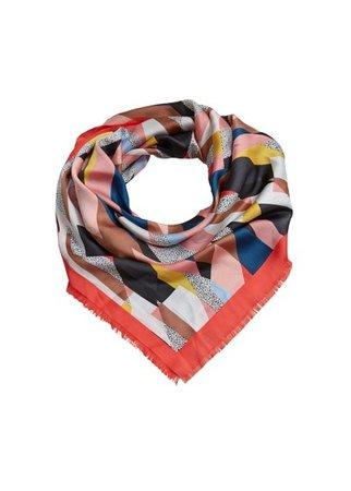 MANGO Multicolor print scarf