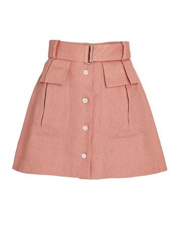 Matthew Bruch Linen Cargo Mini Skirt | INTERMIX®