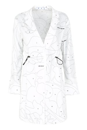 Off-White Cotton Shirt Dress