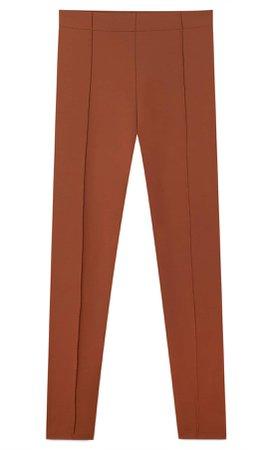 brown High-waist leggings - Women's Just in | Stradivarius United States