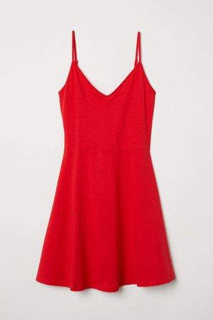 Short Jersey Dress - Red