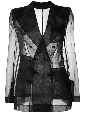 Dolce & Gabbana Double Breasted Sheer Blazer
