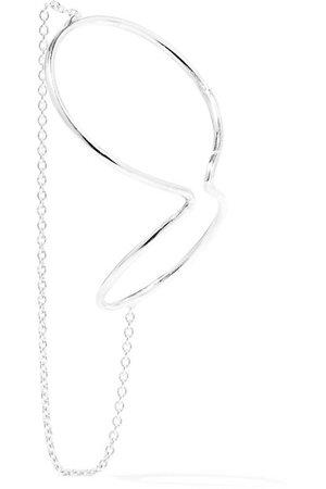 Saskia Diez   Wire silver ear cuff   NET-A-PORTER.COM