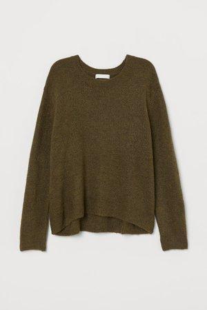 Fine-knit Sweater - Moss green - Ladies | H&M US