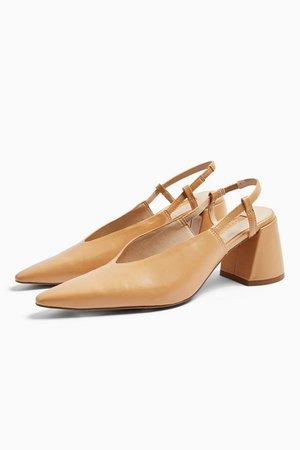 JAM Natural Chisel Slingback Heels | Topshop