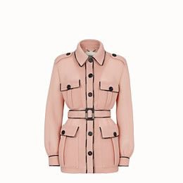 Safari jacket in pink tech mesh - JACKET | Fendi