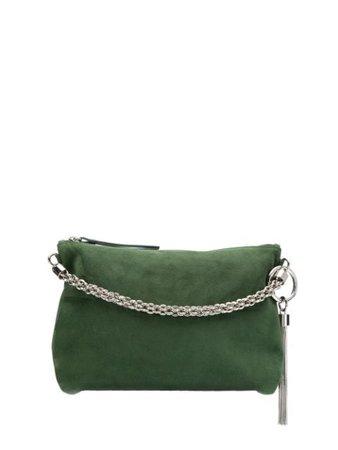 Silver Jimmy Choo Callie clutch bag - Farfetch