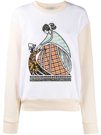 LANVIN embroidered-logo Sweatshirt - Farfetch