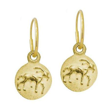 Capricorn Zodiac Earring • LEE BREVARD • 18k Gold   Brevard