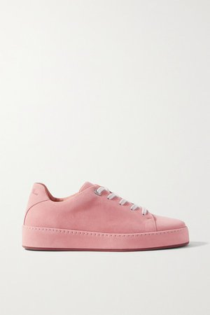 Nuages Suede Sneakers - Baby pink