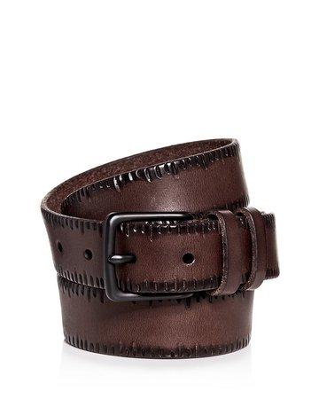 ALLSAINTS Men's Embossed Leather Belt | Bloomingdale's