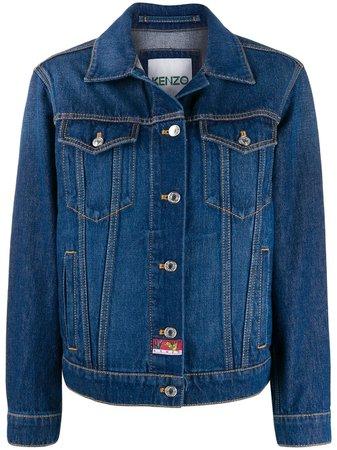Kenzo Джинсовая Куртка с Вышивкой - Farfetch