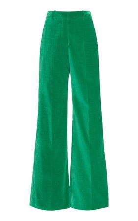 Velvet Wide-Leg Trouser by Victoria Beckham | Moda Operandi
