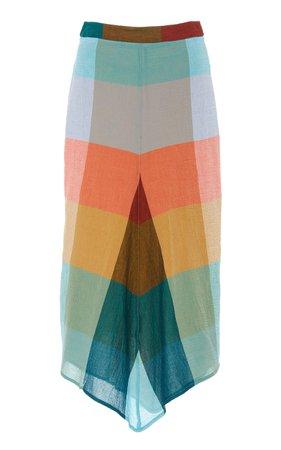 Bassike Patterned Cotton Midi Skirt