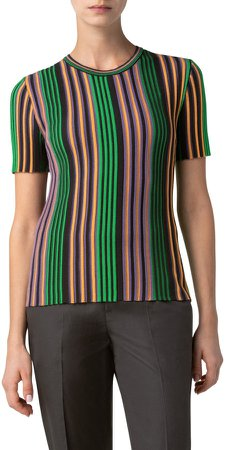 Multicolor Stripe Knit Top