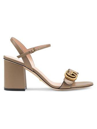 Gucci Marmont GG Ankle-Strap Sandals | SaksFifthAvenue