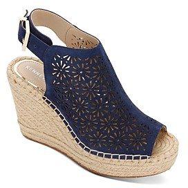 Women's Olivia Perforated Espadrille Wedge Heel Sandals
