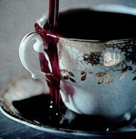 blood teacup