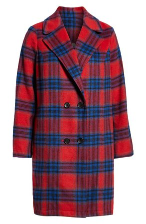 BP. Plaid Double Breasted Coat | Nordstrom