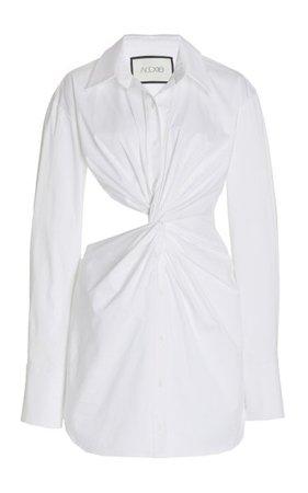 Sakari Cutout Cotton Mini Shirt Dress By Alexis | Moda Operandi