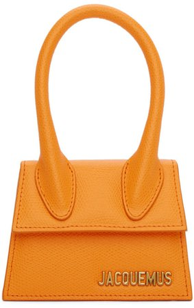JACQUEMUS Orange Mini Handbag