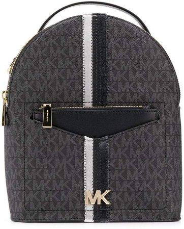 monogram pattern backpack