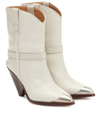Lamsy Leather Ankle Boots - Isabel Marant | Mytheresa