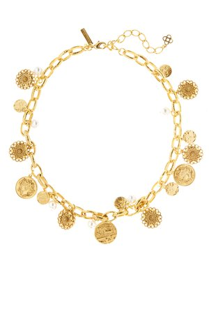 Gold Coin Necklace by Oscar de la Renta for $95 | Rent the Runway